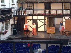 The Merry Wives of Windsor staged by 'Shakespeare at the George' in Huntingdon.