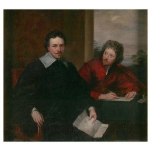 Van Dyck, Double portrait of the earl of Strafford and Sir Philip Mainwaring. (Credit: Victoria and Albert Museum)