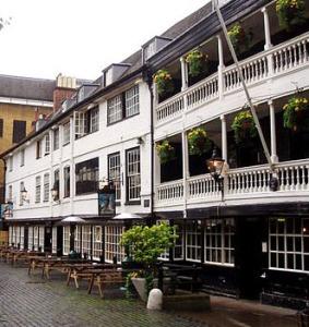 The George Inn, Southwark, the last galleried inn in London.
