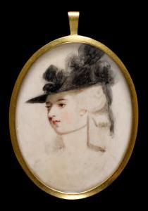 Self-portrait of Mary O'Brien, née Palmer, Marchioness of  Thomond. (Credit: The Fitzwilliam Museum)