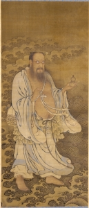 Zongli Quan, the Immortal, on a silk hanging of the Ming Dynasty. (Credit: Cleveland Museum of Art)