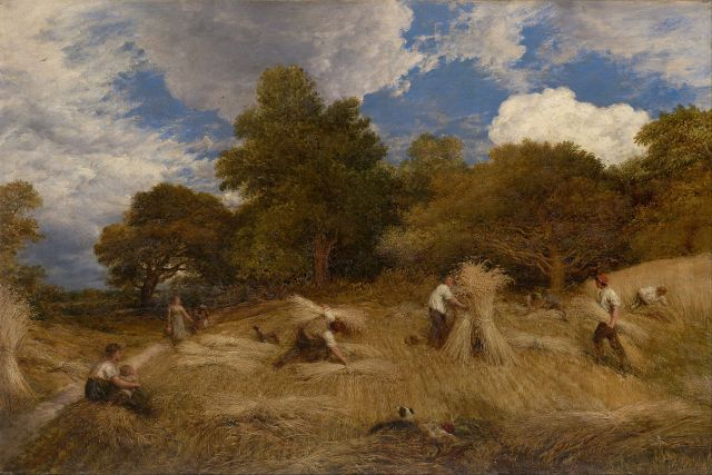 'Wheat', by John Linnell (1792–1882), friend of William Blake and Samuel Palmer. (Credit: