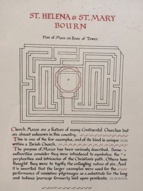 An explanation of the maze pattern.
