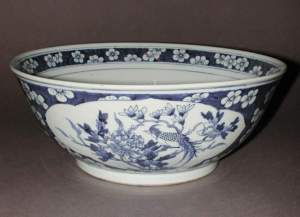 A Chinese punchbowl, 29.3 cm in diameter. (Credit: The Fitzwilliam Museum)