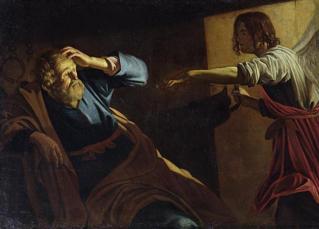 St Peter awakened by the angel, by Gerard Honthorst. (Credit:                 )