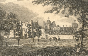 Theobalds Palace, used by James I and Charles I. Robert Cecil used the gardener John Tradescant senior to improve the gardens of Hatfield House and collect palnts abroad for it.