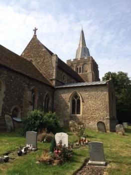 Bourn parish church.