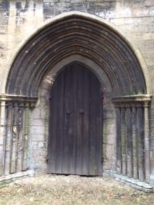 The west door.