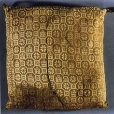 Two silk cushion covers from the tomb of the Infante Don Fernando de la Cerda in Burgos, c. 1275.