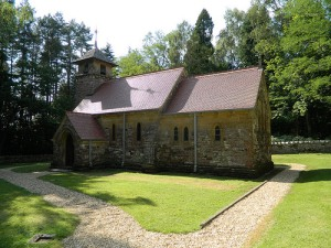 St Aldhelm's church, built as the family's private chapel.