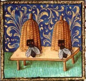 Medieval bee skeps ...