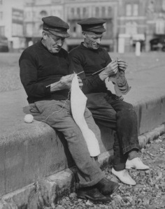 Ramsgate fishermen in the 1930s.