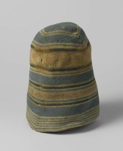 A seamed and felted cap.