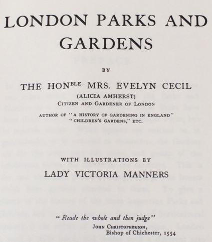 The title page. The colour plates by Lady Victoria Manners can be viewed and downloaded here