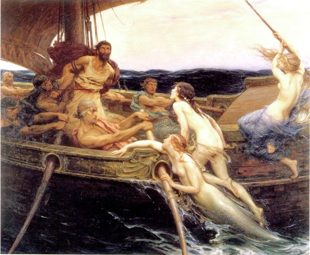 'Ulysses and the Sirens', by Herbert James Draper (1863-1920). (Credit: Ferens Art Gallery, Hull)