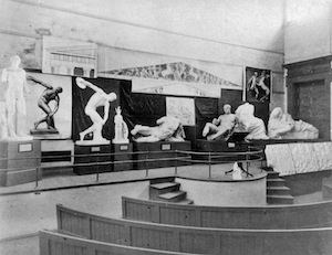 The lecture theatre in the so-called 'Old Ark'. (Credit: Faculty of Classics, University of Cambridge.)