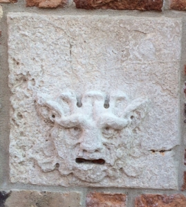 Did the notorious denuncia 'postboxes' of Venice (this one from San Martino, close to the Arsenale) derive from images of the Gorgon?
