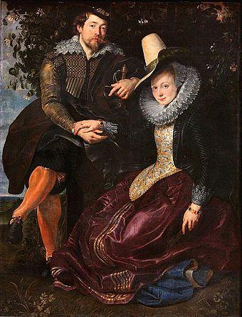 Rubens and Isabella in the garden. (Alte Pinakothek, Munich)