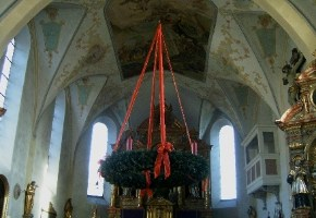 A spectacular Advent wreath in a German church.