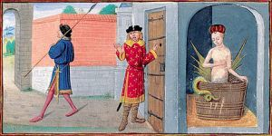 Melusine's secret discovered by her husband, by Jean d'Arras. (Credit: Bibliothèque nationale de France)