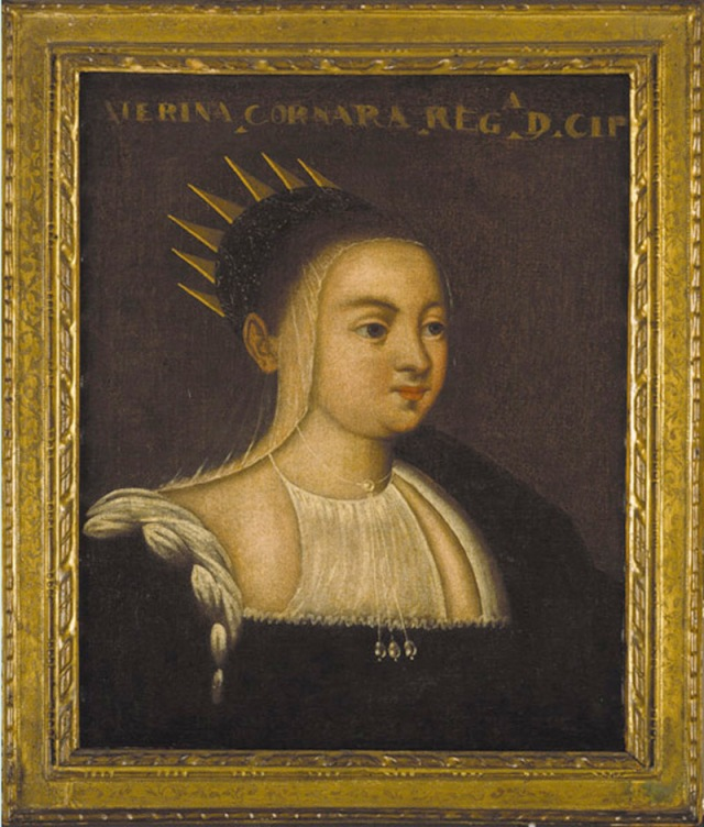 Anonymous portrait of the widowed queen, now in the Museo civico, Asolo.