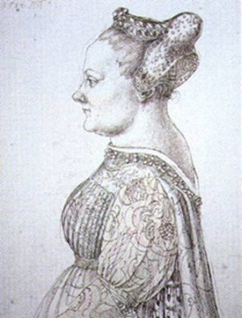 This portrait of Caterina by Dürer is believed to have been copied from a Bellini profile portrait, now lost.