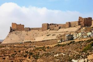 The castle of Kerak in present-day Jordan, besieged by Saladin.