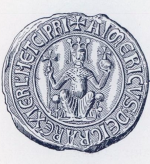 The seal of Aimery as king of Cyprus and Jerusalem.
