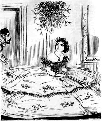"""Augustus thinks Crinoline a destestable Invention."" Punch, 1857. (Thanks to the Victorian Web for this link!)"