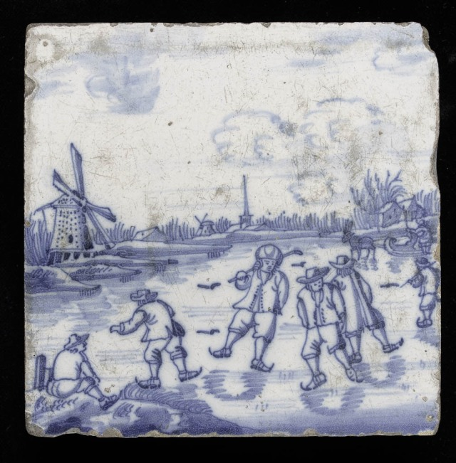 The whole tile, thought to have been made in the eighteenth century. (Credit: The Fitzwilliam Museum)