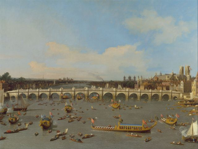 Westminster Bridge on Lord Mayor's Day 1746. (Credit: Yale Center for British Art)