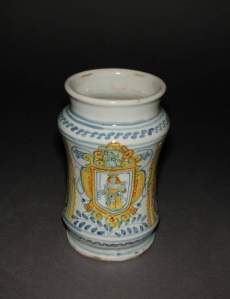 A small pharmacy jar from (Credit: the Fitzwilliam Museum, Cambridge)