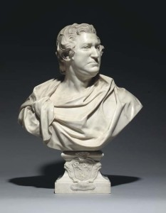 The marble bust of the 9th earl.