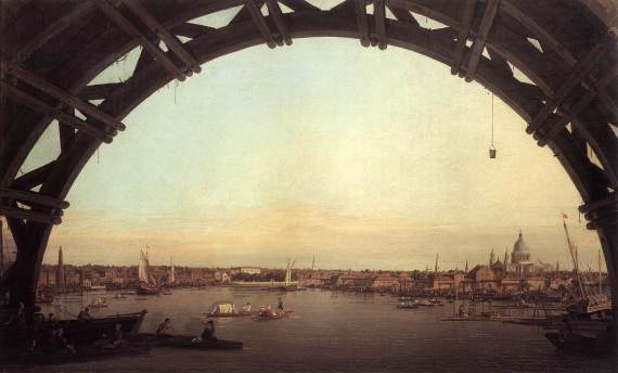 Canaletto, 'London Seen through an Arch of Westminster Bridge', 1747. (Credit: the Duke of Northumberland)