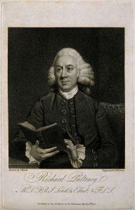 Richard Pulteney, engraving by P. Roberts. (Credit: The Wellcome LIbrary)