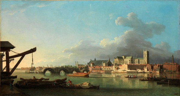 Samuel Scott, 'The Building of Westminster Bridge',c. 1742. (Credit: Metropolitan Museum of Art, New York)