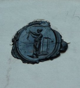The seal of the letter. (Credit: CUBG Cory Library @CoryLibrary)