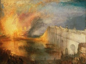 Turner, 'The Burning of the Houses of Lords and Commons', 1834. (Credit: Philadelphia Museum of Art)