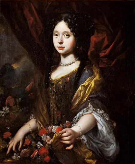 Anna Maria Luisa de' Medici as a child, by Antonio Franchi.