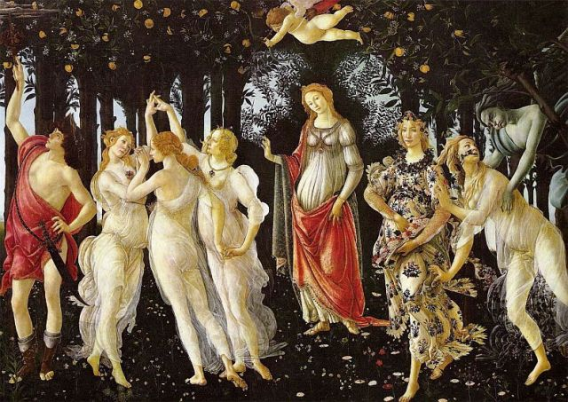 Botticelli's 'Primavera', among the more famous items owned by the Medici family. (Credit: Uffizi Gallery)
