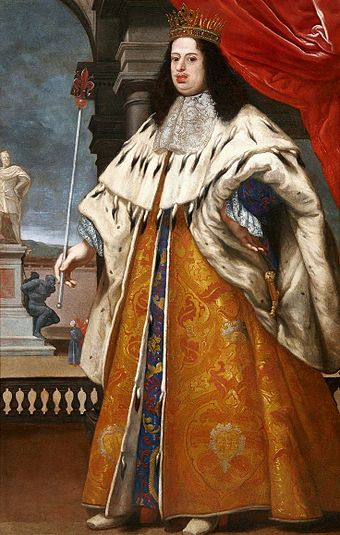 Cosimo III, father of Anna Maria Luisa, by Volterrano. (Credit: Warsaw, Royal Castle)