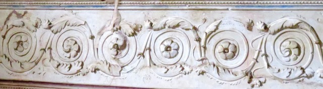 Flower and foliage motifs in plaster inside a Pomperian villa.